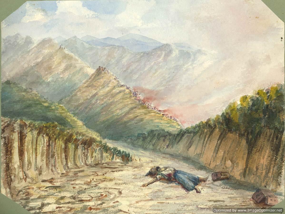 Burned Village in Syria 1860