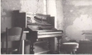 The room at Neuchatel, where George wrote his 5th Symphony. 1947